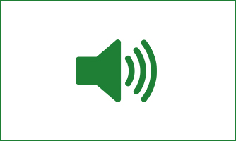 Grünes Lautsprechersymbol